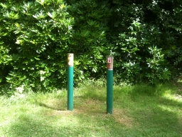Waymarker posts ensure you are going in the correct direction