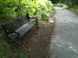 This is the first of four resting points around the Heritage Trail