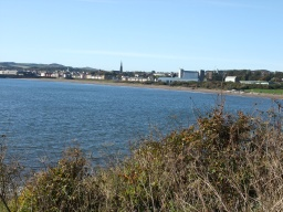 The path provides fine views across the bay to Kirkcaldy.