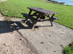There is an accessible picnic bench.