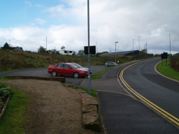 The visitor car park is the on the right as you approach Auchinstarry Marina. It is directly opposite the Boathouse Restaurant at Ordnance Survey Grid Reference NS721767