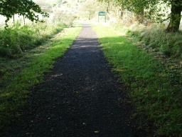 The path is about 1200mm wide for about 100m.