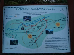 There is an information board about the Antonine Walkway.