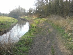 Although flat, this area of the path is unsurfaced and is likely to become muddy, and possibly flood, during wet weather.