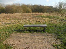 A surfaced area provides easy access to the bench.