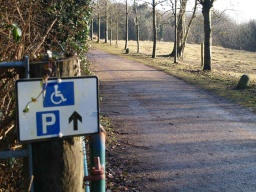 Follow the signs towards the accessible car park