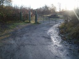 The gap by the gate is about 850mm wide
