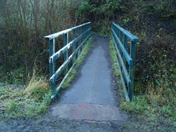 Access is available from Comrie Glen. The bridge may be slippery when wet.