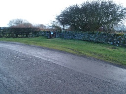 There is informal parking on the grass verge at the edge of the road. The grass may be uneven in places and slippery when wet. The gate to the bird hide is right next to this parking space.