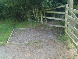 There is manoeuvring space for wheelchair users on the inside of the gate.
