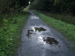 There will be a few puddles on the path especially after wet weather.